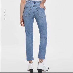 (BRAND NEW) ZARA High Rise Straight Jeans